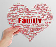 Family Tag Cloud Stock Image