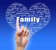 Family Tag Cloud With Hand Stock Photography