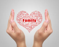Family Tag Cloud With Hands Stock Images