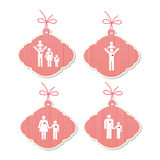 Family tags of love Royalty Free Stock Photo