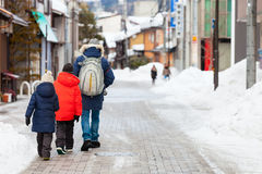 Family in Takayama town Stock Photography