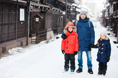 Family in Takayama town Stock Images