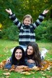 Family taking healthy stroll Royalty Free Stock Photo