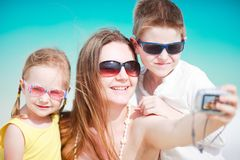 Family taking self portrait Stock Photography