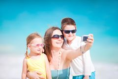 Family taking self portrait Royalty Free Stock Photo