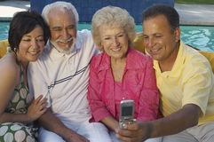 Family Taking Self Portrait Royalty Free Stock Images