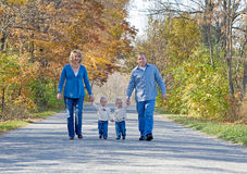 Family Taking a Walk stock images