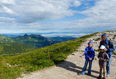 Family in summer Tatra Mountain, Poland Royalty Free Stock Photography