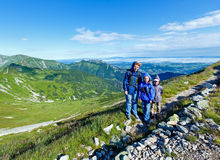 Family in summer Tatra Mountain, Poland Stock Image