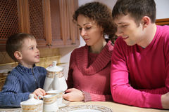 Family at tea Stock Photography