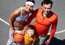Family team royalty free stock photos