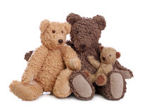 Family of teddy bears Stock Photos