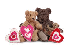 Family of teddy bears Stock Photo