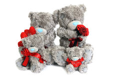 Family of teddy bears Stock Image