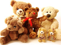 Family of teddy bears Stock Images