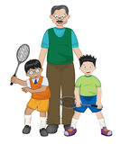 Family tennis Stock Photo