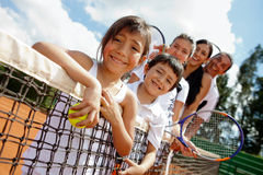 Family of tennis players Royalty Free Stock Photos