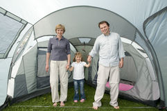 Family in tent Stock Image