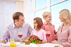 Family Thanksgiving dinner Royalty Free Stock Photo