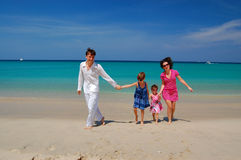 Family on their beach vacation Stock Photography