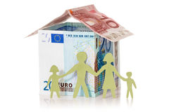 Family and their Euro house stock photography