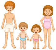 A family in their swimming attire Stock Image