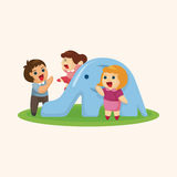 Family theme elements Royalty Free Stock Photography