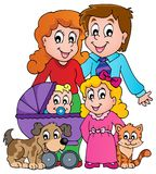 Family theme image 3 Stock Photography