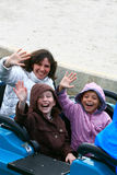 Family at theme park Royalty Free Stock Photo