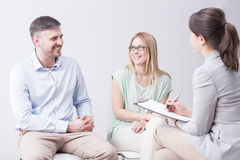 Family therapy coming to a happy end Stock Photo