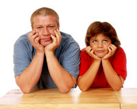 Family Thinkers Stock Photography