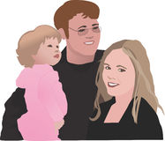 Family of Three stock illustration