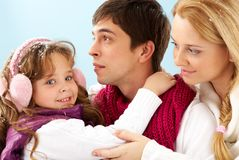 Family of three Royalty Free Stock Photo