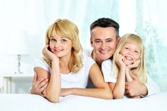 Family of three Royalty Free Stock Images