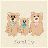 Family of three bears Royalty Free Stock Images