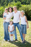 Family with three children royalty free stock photos