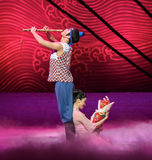 "A family of three-Dance drama ""The Dream of Maritime Silk Road"" Stock Photo"