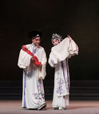 """Family of three-The eighth act getting a new born child-Kunqu Opera""""Madame White Snake"""" Stock Image"""