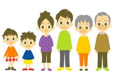 Family. Three generation family,  file Stock Photography