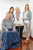 Family with three generations at Royalty Free Stock Photos