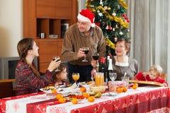 Family of three generations  celebrating Christmas Royalty Free Stock Photo