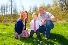 Family of Three at Park Royalty Free Stock Photography