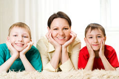 Family of three people Royalty Free Stock Image