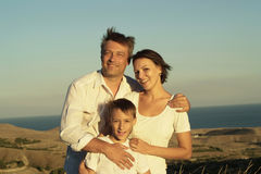 Family of three people Stock Photography