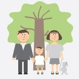 A family of three Stock Image