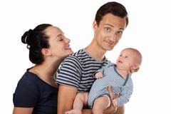 family three young στοκ εικόνα με δικαίωμα ελεύθερης χρήσης