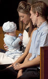 Family of Three. Royalty Free Stock Photo