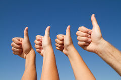 Family thumbs up Stock Photography