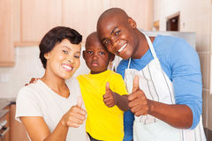 Family thumbs up Royalty Free Stock Photos