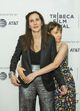 Family Ties at TFF:  Laurie Simmons and Lena Dunham Stock Photo